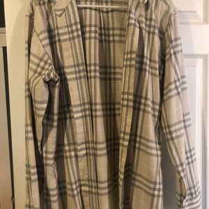 Gray / white Burberry shirt